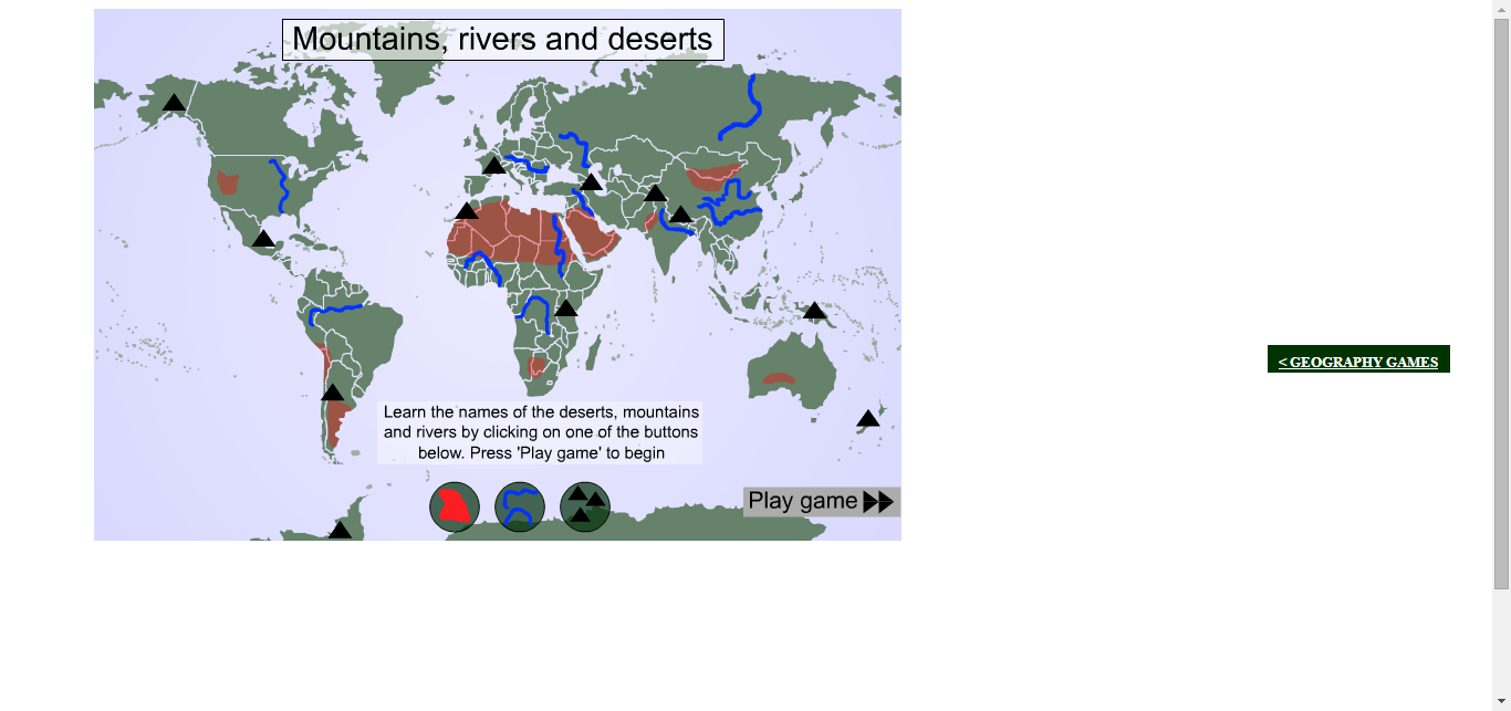 World deserts mountains and rivers geography World