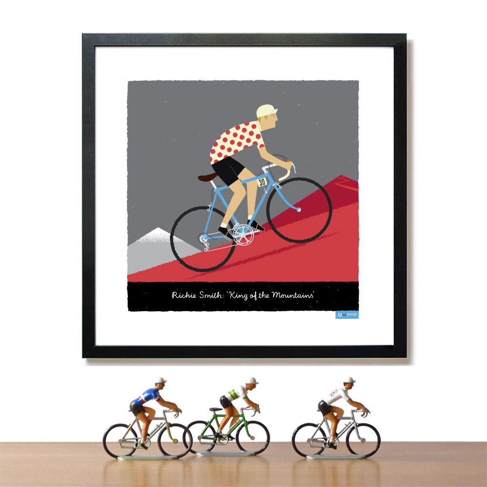 Cycling Art Prints And Posters By Gumo Cycling Art Print Cycling Art Mountain Print