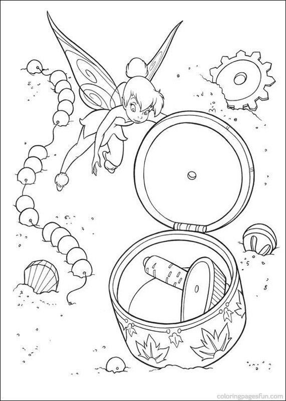 tinkerbell coloring pages 34 - Tinkerbell Coloring Book