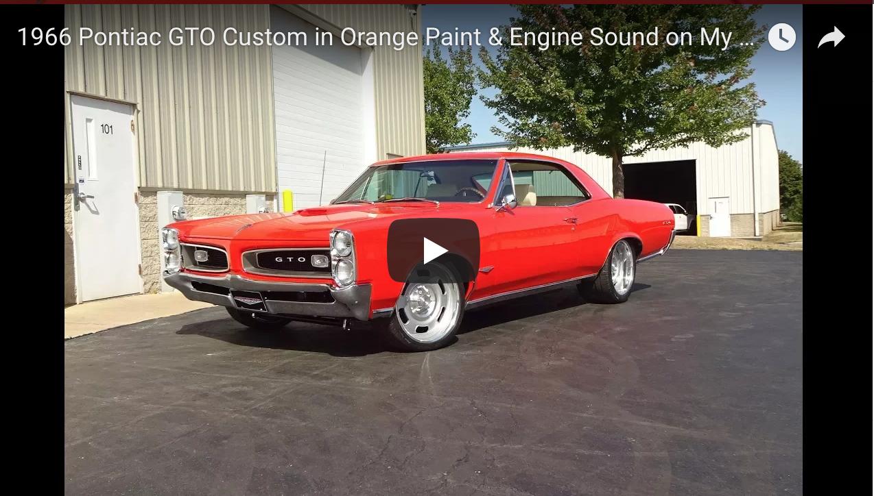 1966 Pontiac Gto Custom In Orange Paint Engine Sound Muscle Cars March Serpentine Https Www