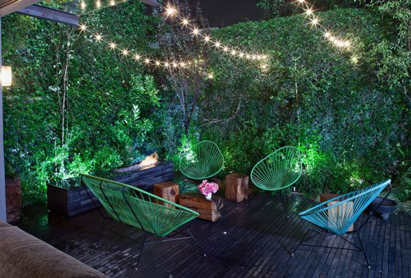 Pareti Esterne Illuminate : Spectacular outdoor string lights to illuminate your patio