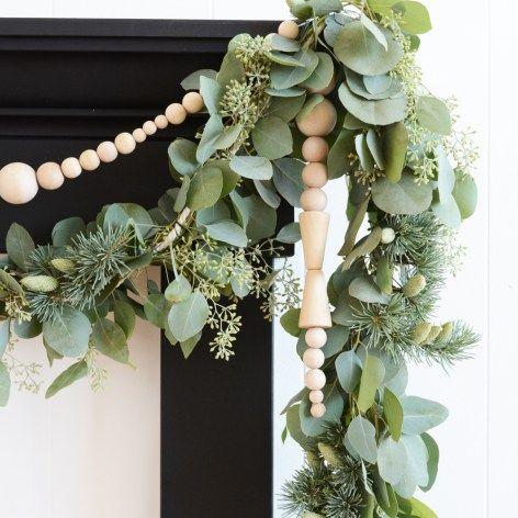 Scandinavian Wooden Bead Icicle Garland | Oleander + Palm