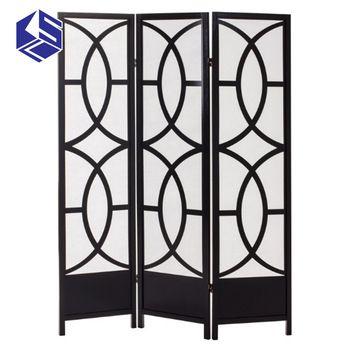 KSL Economic removable folding room divider wooden screen room