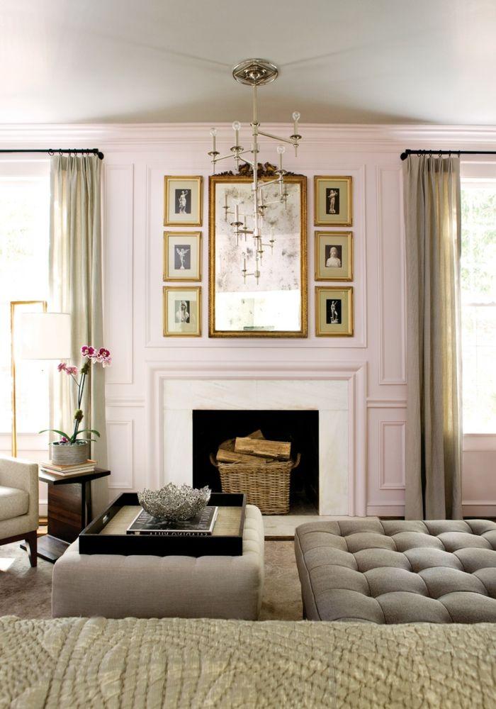 ▷ 1001 + Ideen für Altrosa Wandfarbe zum Genießen - farbe wohnzimmer ideen