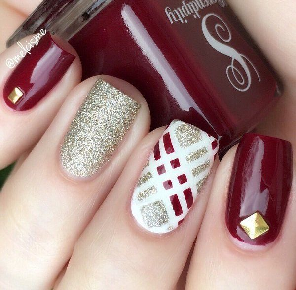 The maroon, white and silver combo with a dash of gold is sure to ...