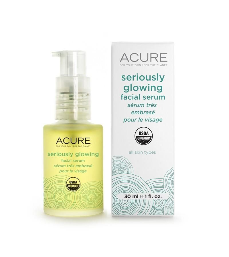 Acure Brightening Glowing Facial Serum - 1 Oz