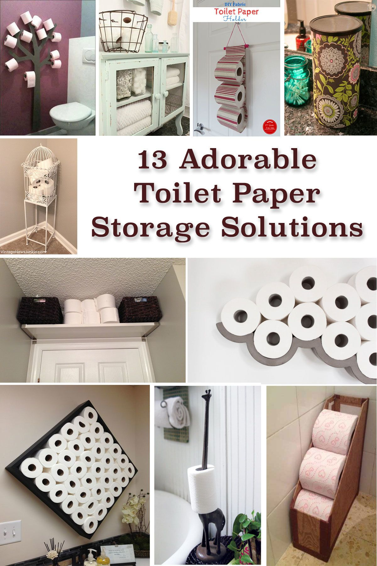 13 Adorable Toilet Paper Storage Solutions Toilet Paper Storage Paper Storage Toilet Paper