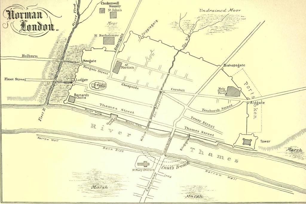 RT @londonerwalking: A map of Norman London