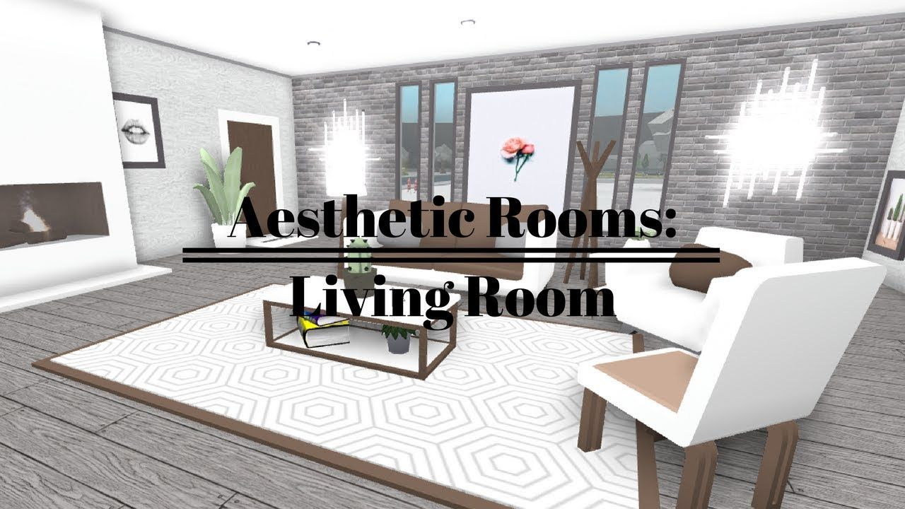 Roblox Welcome To Bloxburg Aesthetic Rooms Living Room Tiny