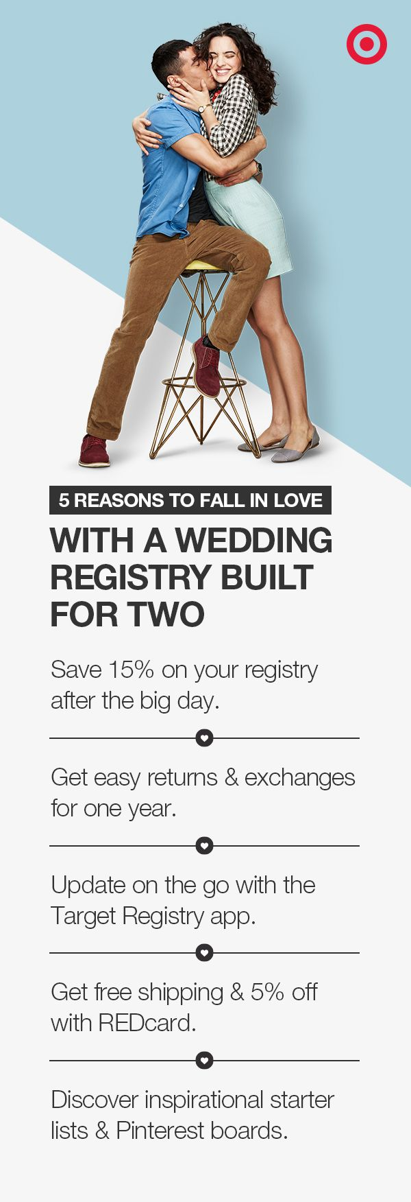 Five great reasons to start your wedding registry at