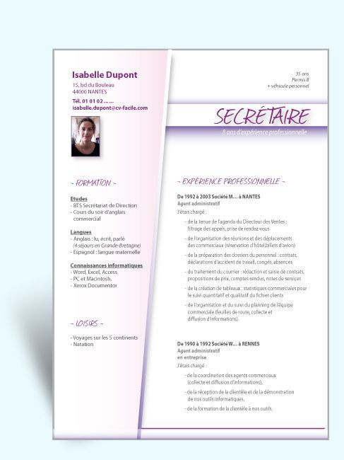 Fotos Modele Exemple Cv Word Secretaire Medicale Jpg Car Pictures - resume or word