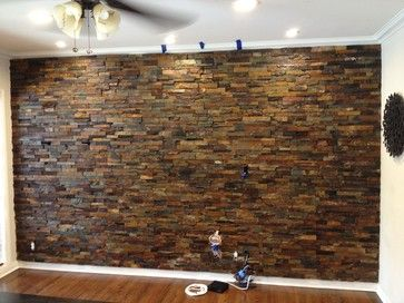 Interior Ledger Stone Wall Lication Rustic Los Angeles By