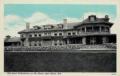 Mena Arkansas Ar 1913 Old Hotel Wilhelmina Rich Mountain Vintage Postcard Moodys Postcards