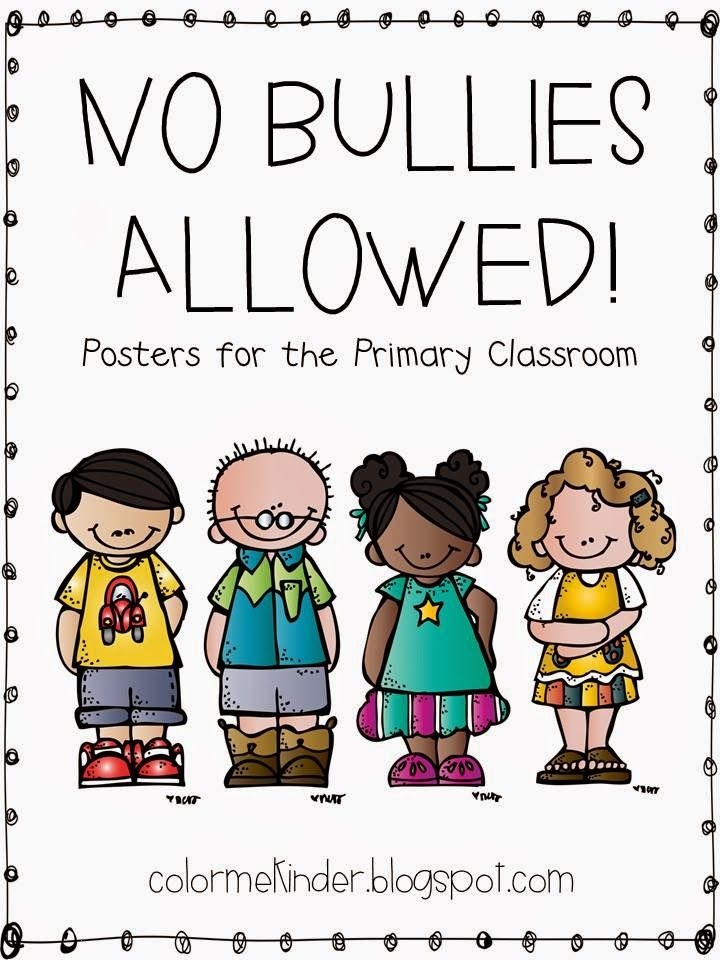 Color me kinder bully free zone classroom posters freebie