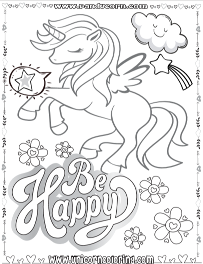 Unicorns In Love Printable Card To Color Unicorn Coloring Pages Coloring Pages Magical Book