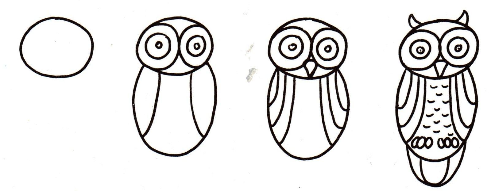 Le mercredi des enfants chouette le hibou cole pinterest dessin chouette et apprendre - Chouette a dessiner ...