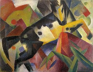 Leaping Horse - Franz Marc