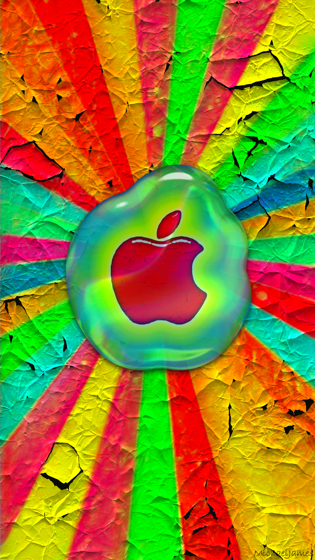 Download Apple In Hot Wax 640 x 1136 Wallpapers - 4235035 - Hot Wax Glass Apple Abstract iPhone | mobile9