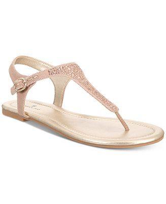 c33d87e63 Bandolino Kyrie Embellished Flat Sandals - Sandals  amp  Flip Flops - Shoes  - Macy s Altra