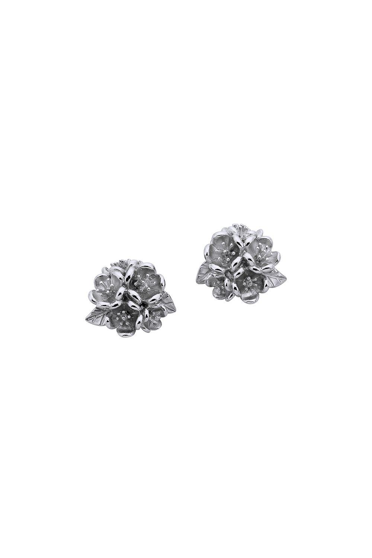 Flower Ball Studs Silver - All Jewellery | Karen Walker