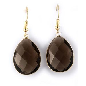 Effy Collection 14 Kt. Yellow Gold Smoky Quartz Earrings