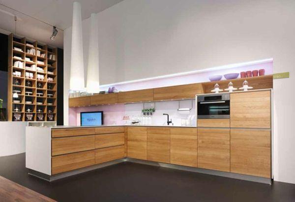 Fantastisch Moderne Schicke Küche Holz Einrichtung L Förmig Eingebaut (600×410)