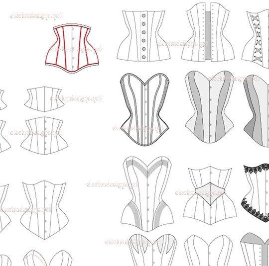 dessiner un corset - Recherche Google   корсеты   Pinterest ...