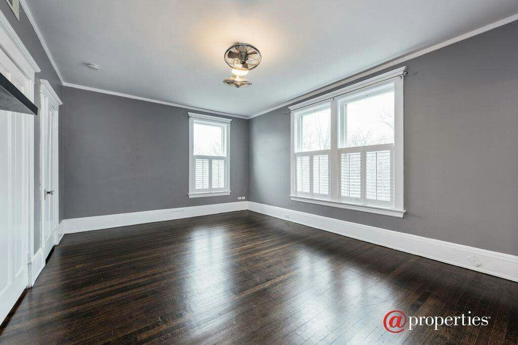 Love The Gray Walls And Dark Floors Grey Walls Grey Wall Color