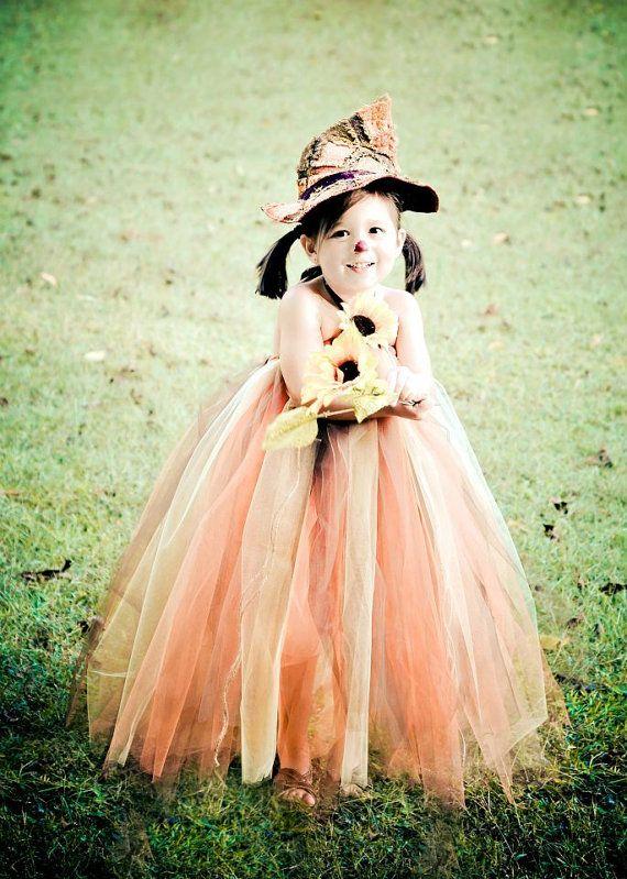 Sun Flower Scarecrow Halloween Tutu Dress by EllaBooCouture - scarecrow halloween costume ideas