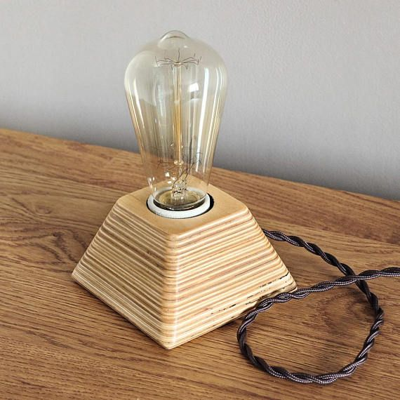 Edison Lamp,Wood Lamp,Wooden Edison Lamp,Table Lamp,Handmade lamp