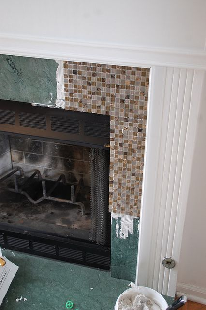 Updating Ugly Green Marble Fireplace Home Decor Diy