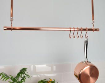 hanging copper clothes rail clothes rack hanging rail copper rail living pinterest. Black Bedroom Furniture Sets. Home Design Ideas