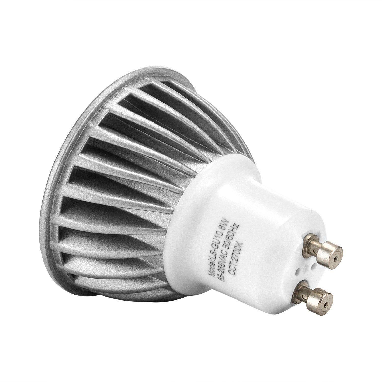 Gu10 Led Light Bulbs 6w 2700k Warm White Romantic Glow 500lm 50w Halogen Spotlights Equivalent 1 Year Payback Time Aluminum Downlights Led Lights Led Bulb