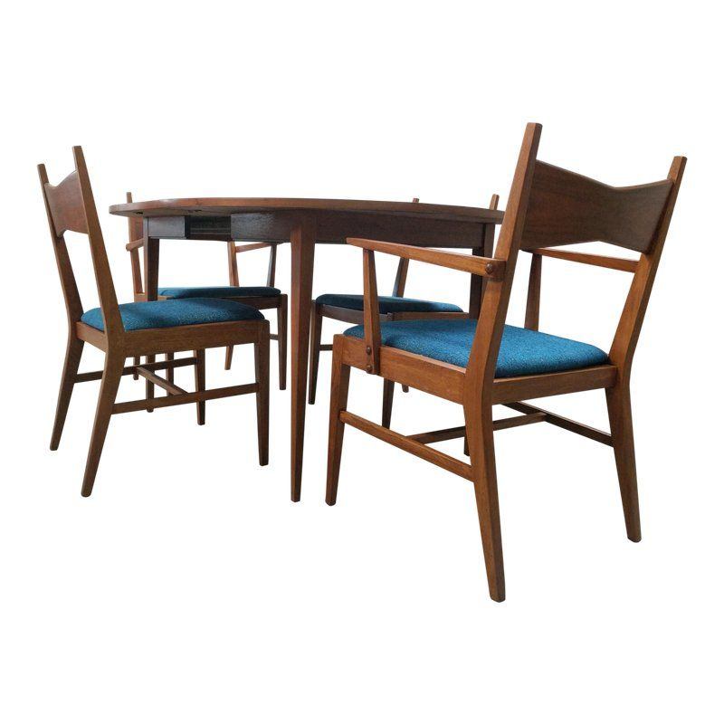 Fine Mid Century Refinished And Reupholstered Tuxedo Dining Set Bralicious Painted Fabric Chair Ideas Braliciousco