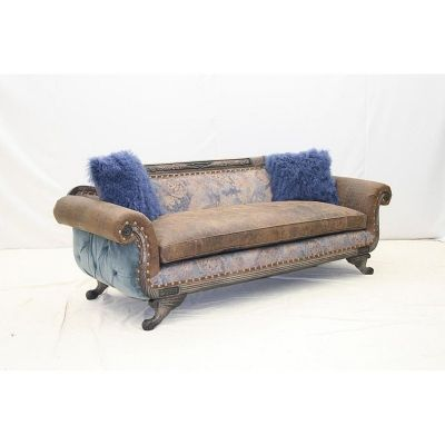Old Hickory Tannery 7403 03t Tufted Back Duncan Sofa Available At