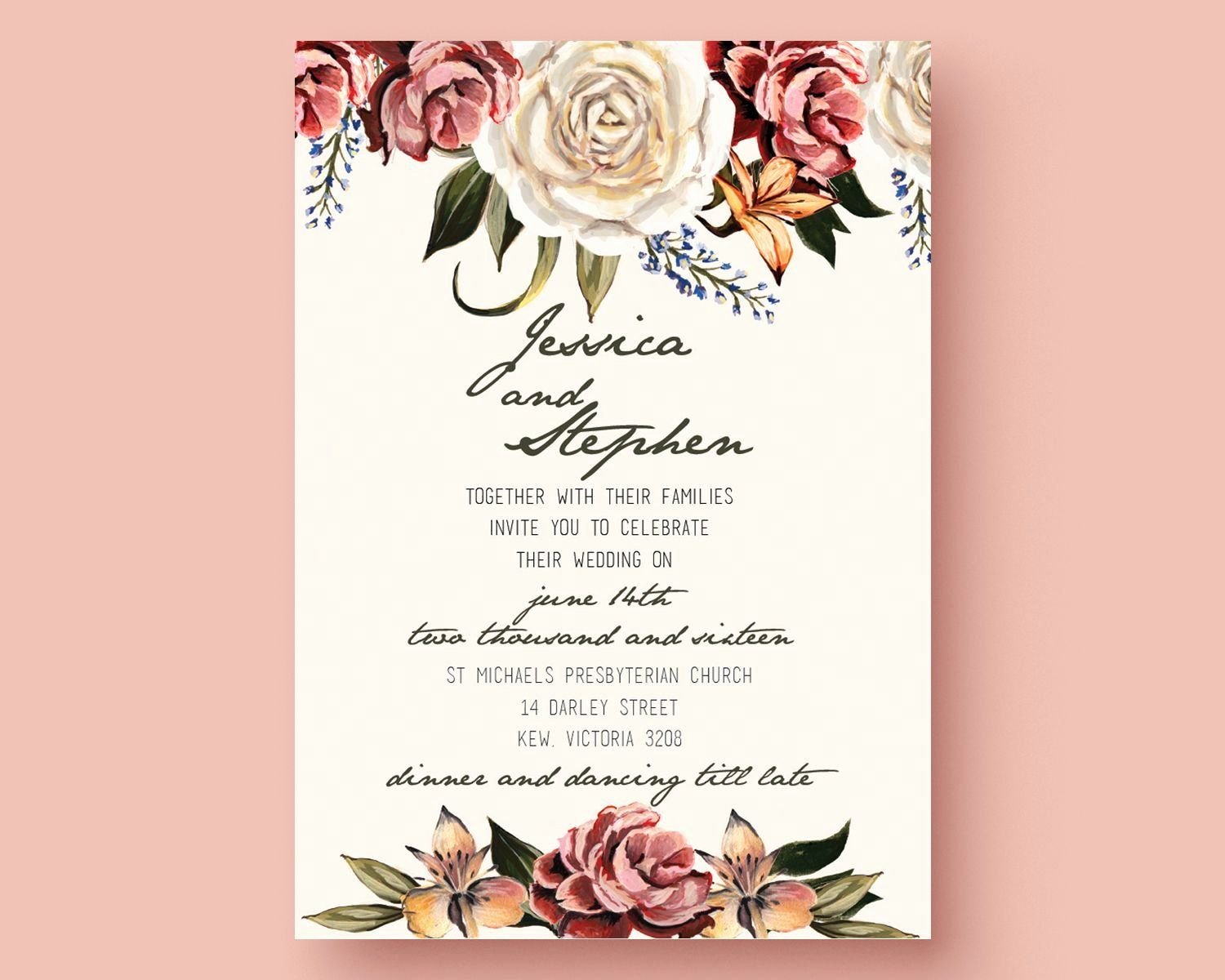 Wedding Invitation Template Free Download Luxury Get The Template F Free Wedding Invitations Free Wedding Invitation Templates Wedding Invitation Card Template