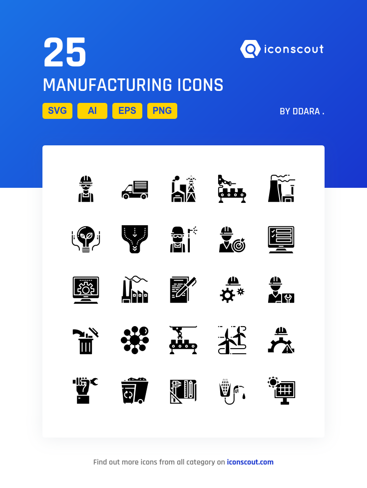 Download Manufacturing Icon Pack Available In Svg Png Eps Ai Icon Fonts Icon Pack Icon Icon Font