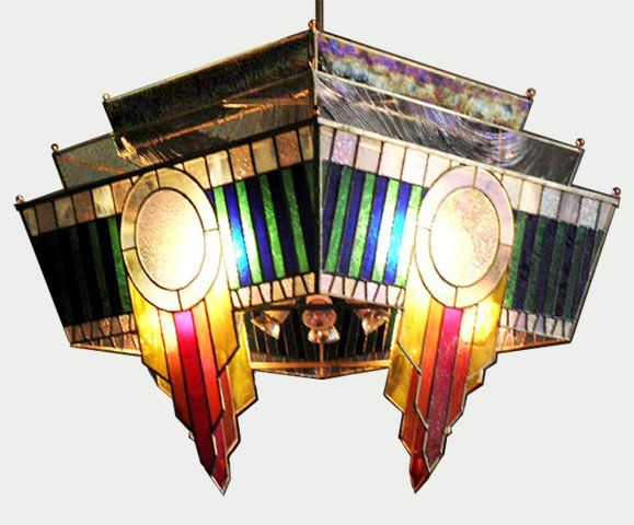 Google image result for httpstainedglassclassesstained stained glass art deco chandelier by nic east aloadofball Image collections