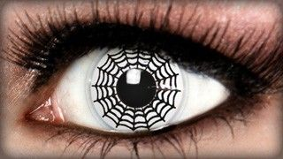 Spider Web contacts | cool contacts | Pinterest