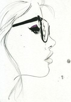 That Nerdy Girl Original Watercolor And Pen Fashion Illustration By