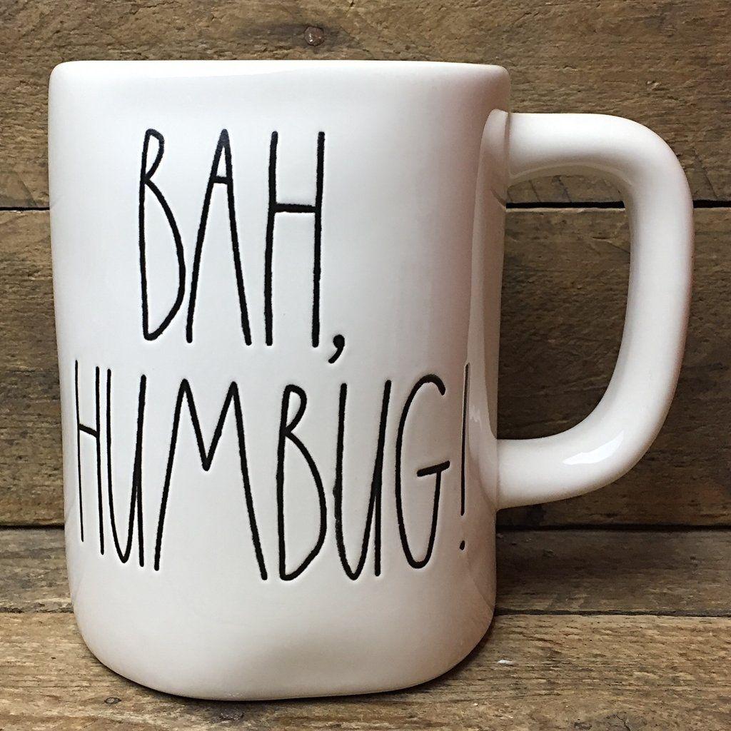 rae dunn bah, humbug! coffee mugmagenta | rae dunn magenta