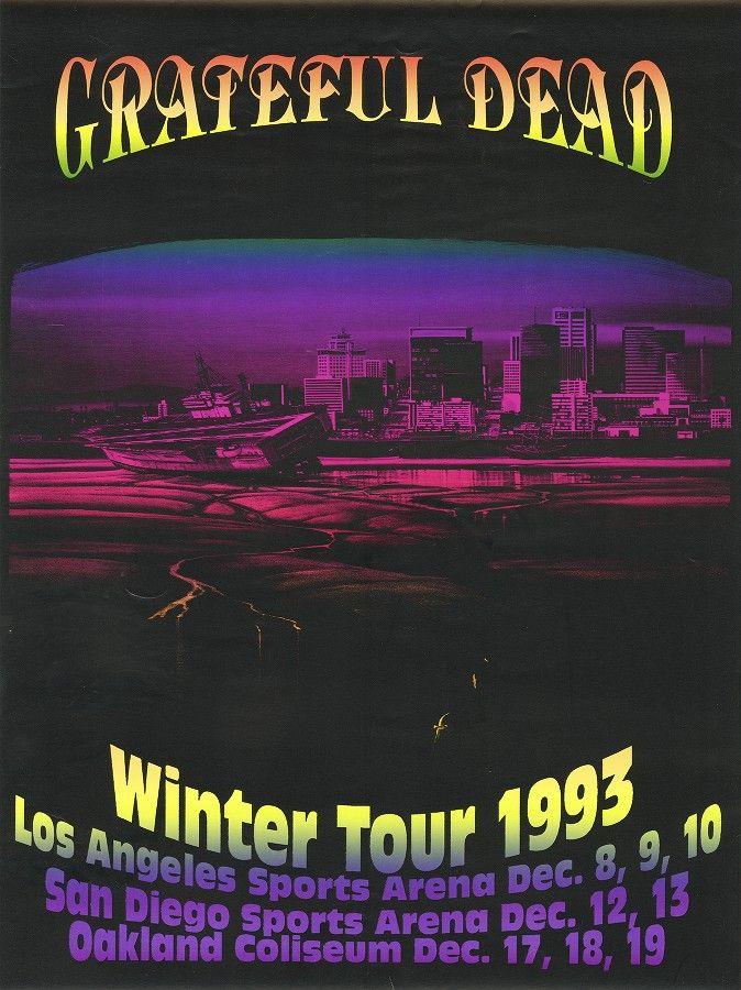 6b8c396e01f 1993  Grateful Dead. Winter Tour. Poster art by Bill Dellick ...