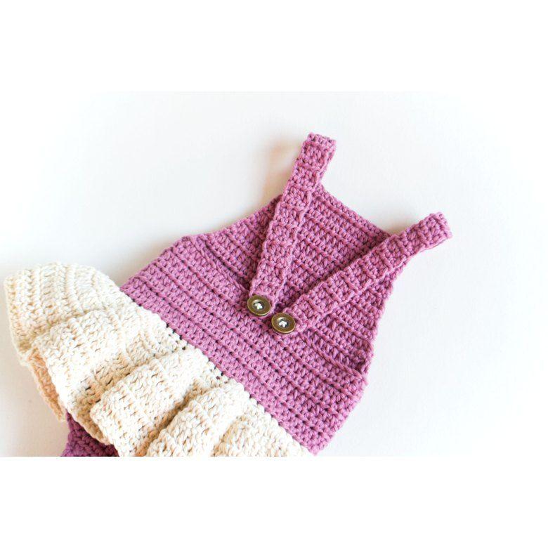 Crochet Baby Romper/Onesie/Dress Little Ballerina | bodys & peleles ...