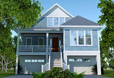 Elevated, Raised, Piling And Stilt House Plans | Coastal Home Plans