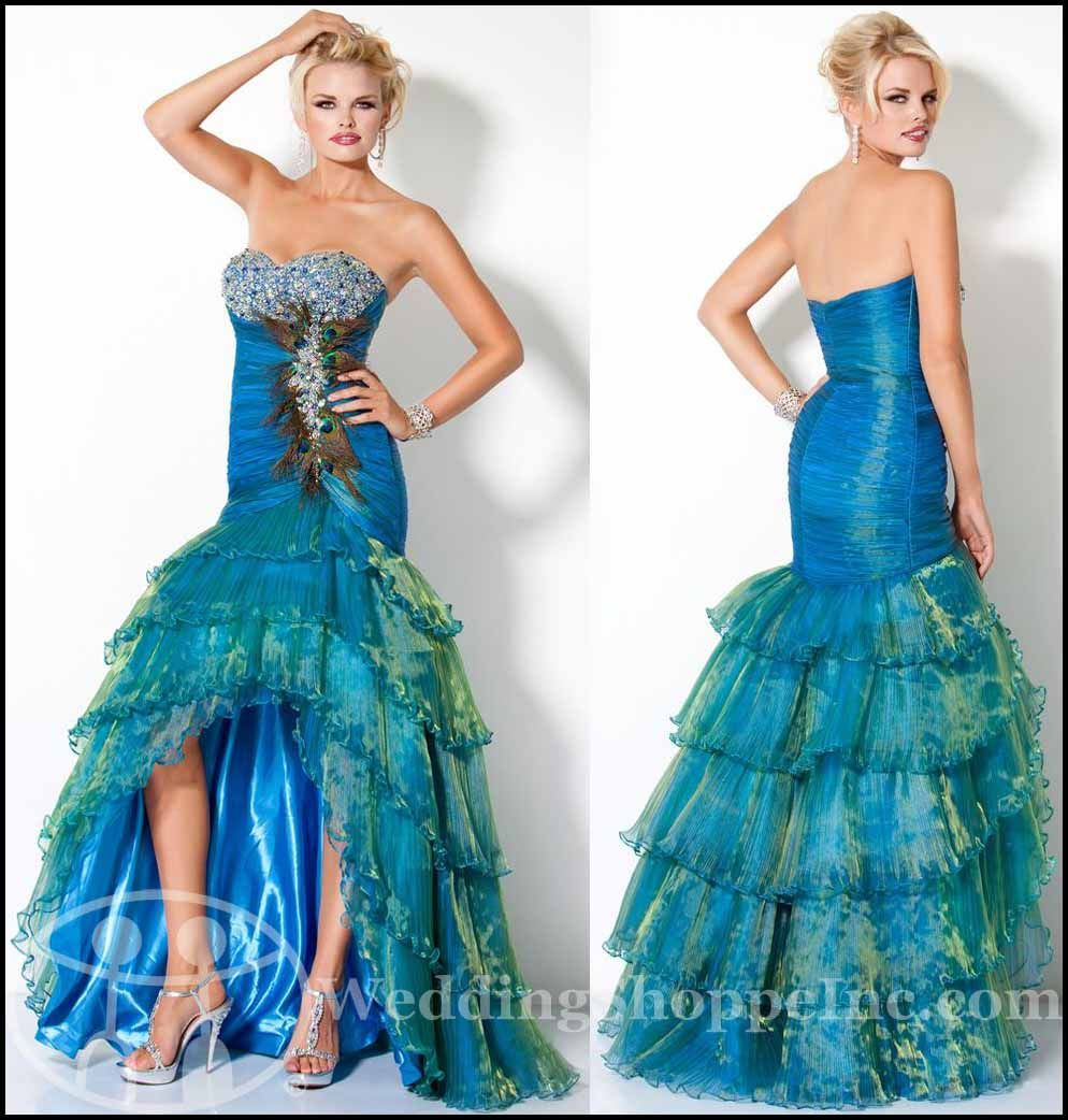 Exotic Prom Dresses 2012: The Peacock Dress Prom Trend ...