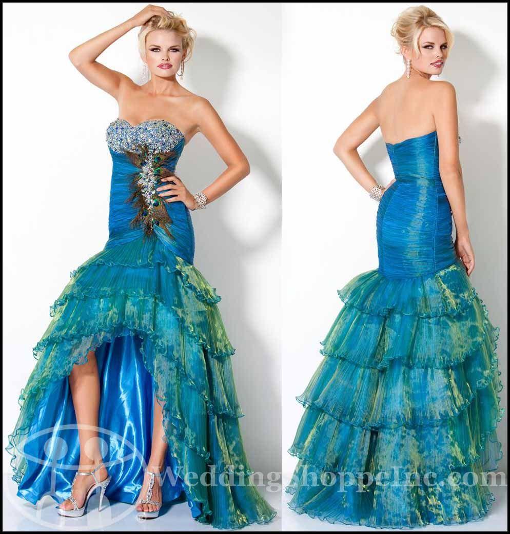 Dresse Peacock Prom Dress