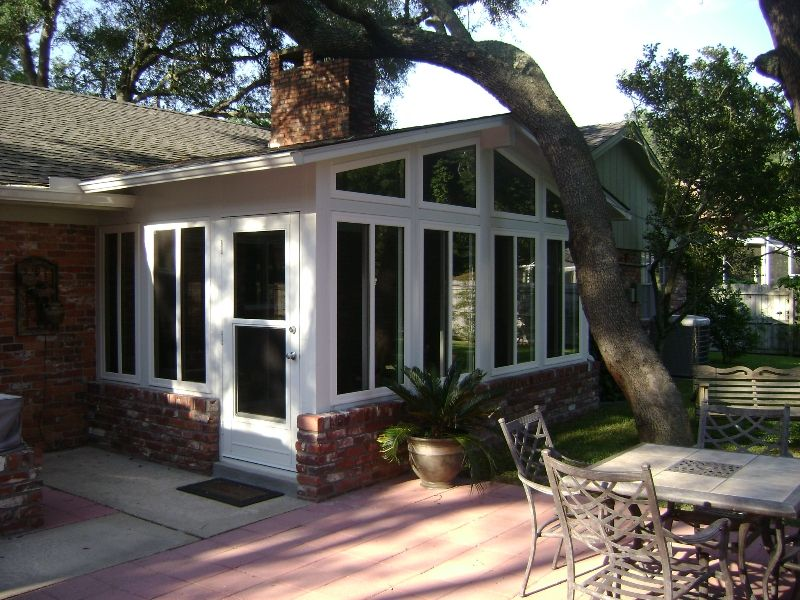sunroom addition to brick home | Sunrooms