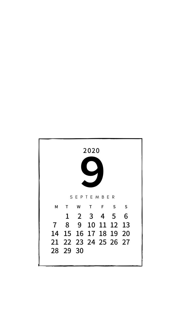 年9月のカレンダー Pandalabo 日付シート配信 Note 壁紙 カレンダー カレンダー 待ち受け カレンダー