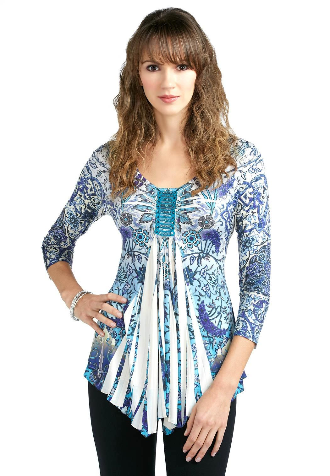 3b243f4e Sequin Sublimation Top Tees & Knit Tops Cato Fashions | Style ...