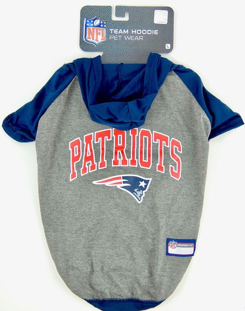 meet 00602 6fbe4 New England Patriots NFL Hoodie Tee Shirt Football Team Fan ...